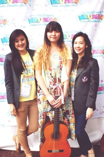 me and my friends after performing 3 songs. miss that time. and when i still have a long ombre hair. Ombre Hair Indonesian Friends Uph