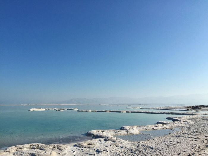 Dead Sea Salt Isreal  PhonePhotography IPone 6 Plus Water Sea Sky Scenics - Nature Beauty In Nature Blue Nature Outdoors Clear Sky