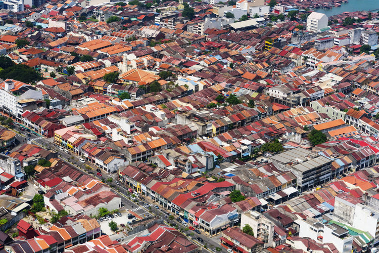 old town area Aerial View Architecture Backgrounds Building Building Exterior Built Structure City Cityscape Community Crowded Day Environment Full Frame High Angle View House Nature Outdoors Residential District Roof Roof Tile Town TOWNSCAPE Urban Sprawl