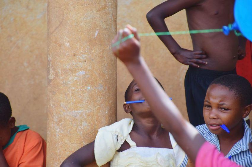 Mpara School Uganda Girls Boys Students School Students Life Human Hand Togetherness Friendship Headshot Child Altruism Social Responsibility Non-profit Organization Children