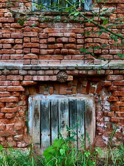 Weathered wall of old building