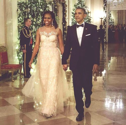 Beautiful First Lady and the President