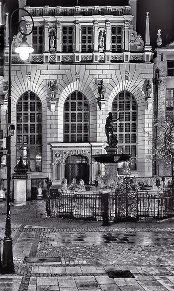 Architecture Building Exterior Gdansk, Poland Night Artus Court