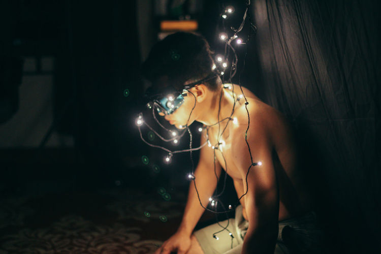 Christmas Spaceman Adult Adults Only Always Be Cozy Christmas Christmas Lights Human Hand Indoors  Jewelry Men My Year My View Night Nightlife One Man Only One Person People Portrait Portrait Of A Friend Shirtless Uniqueness Technology Light And Shadow Welcome To Black Long Goodbye Resist EyeEm Diversity The Secret Spaces The Photojournalist - 2017 EyeEm Awards The Portraitist - 2017 EyeEm Awards Neon Life AI Now