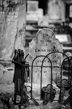 Cemetery Photography Nikon D5100  No People Outdoors Tombstone Gravemarkers Weathered Stone Black & White