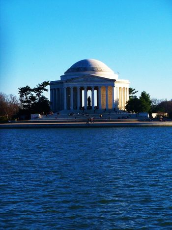 Jefferson Memorial Architecture Blue Building Exterior Built Structure Clear Sky Culture Day Famous Place Jefferson Memorial Nature No People Outdoors President Rippled Scenics Sky Thomas Jefferson Thomas Jefferson Memorial Tourism Tranquil Scene Tranquility Travel Destinations Washington, D. C. Water Waterfront Adventures In The City