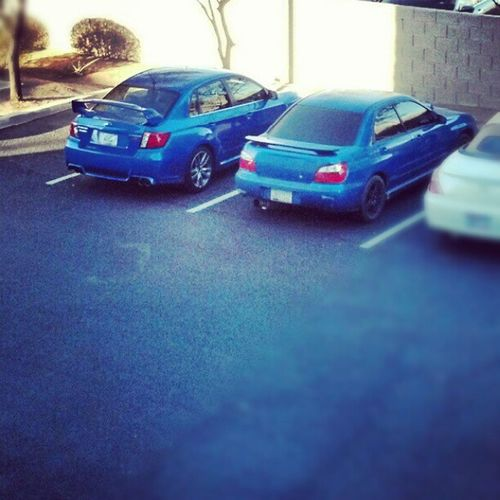 I was told I need to step up my game... Wrx STI Subbie Subaru Blue Twins Wrb Fast Jealous