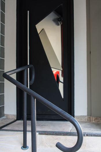 Angles Building Entranceway Stone Metal Doorway Geometry Railings Urban Geometry