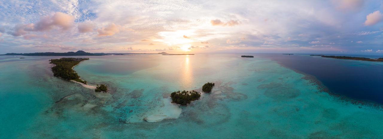 Tropical Aerial Island INDONESIA Sumatra