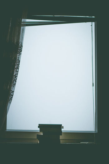 Architecture Indoors  Copy Space No People Sky Window Clear Sky Day Building Silhouette Bookshelf Frame
