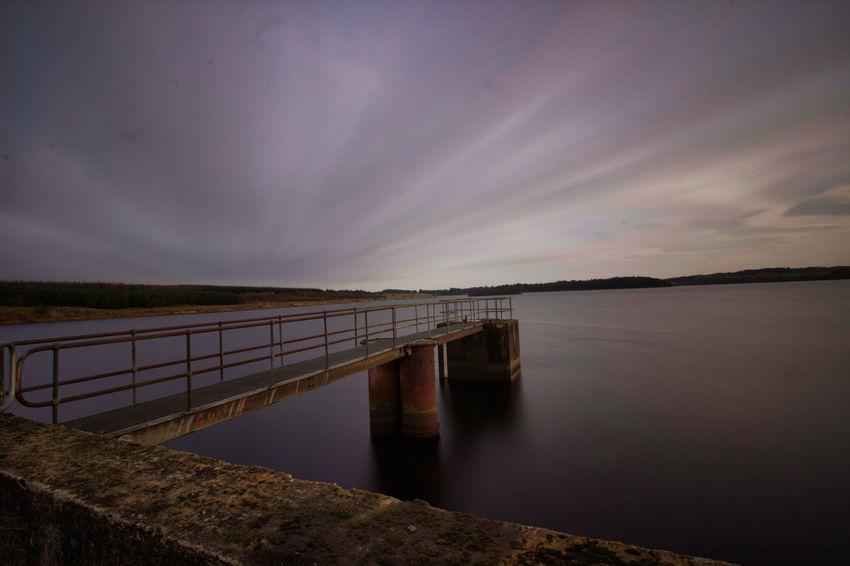 Water Sea Bridge - Man Made Structure Sky Horizon Over Water Landscape Architecture Pier Dam Shore Sunset Calm Reservoir