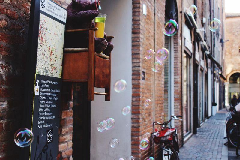 Bubbles in Ferrara