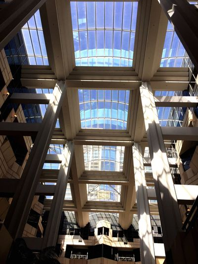 Love the sun shining through into the Atrium Check This Out From My Point Of View Urban Geometry San Francisco Atrium Rincon Eye4photography  Taking Photos