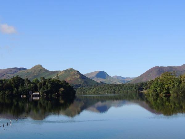 Derwent Water Derwentwater England Countryside Lake District Lake District National Park Beauty In Nature Blue Built Structure Clear Sky Day Lake Landscape Mountain Mountain Range Nature No People Outdoors Reflection Scenics Sky Tranquil Scene Tranquility Tree Water Waterfront