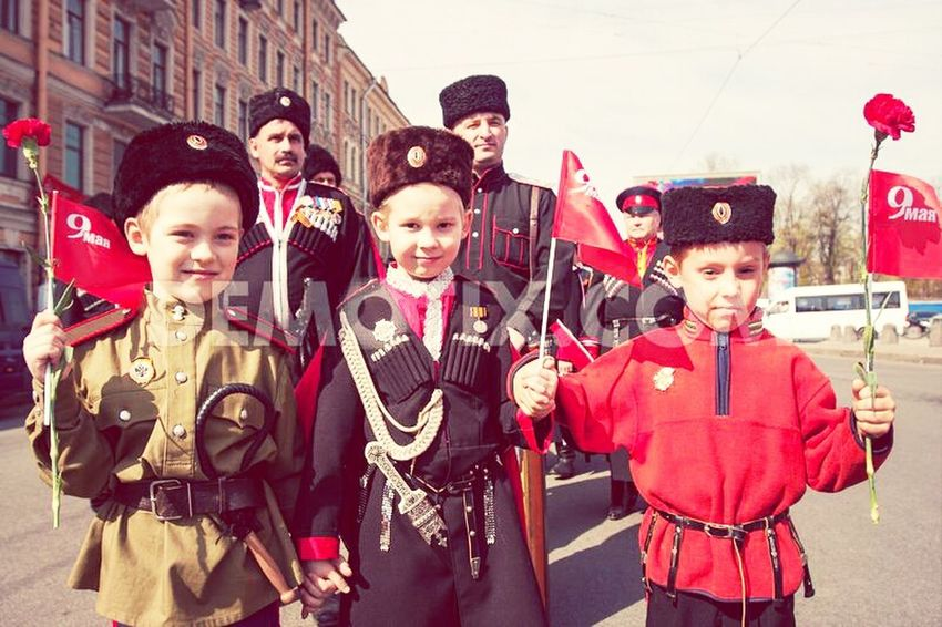 People Kids Parade Russians