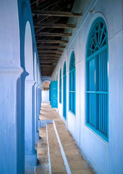 Blue doors and