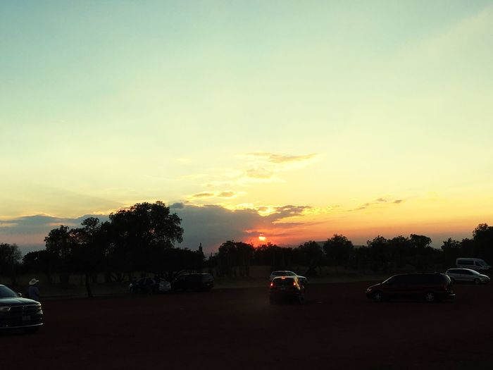 Car Land Vehicle Transportation Sunset Mode Of Transport Road Tree Sky Sun Nature Outdoors No People Day duude, sunsets in Mexico 😍
