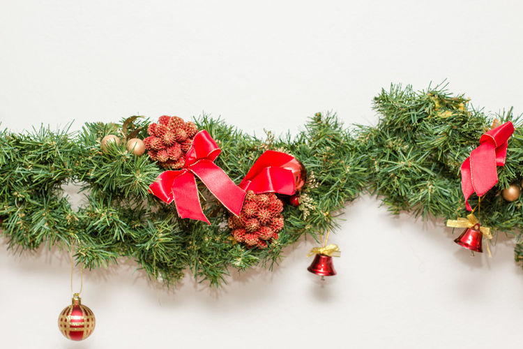 Christmas Red Christmas Decoration Christmas Tree Tree Celebration No People Christmas Ornament Fir Tree Branch Close-up Nature Needle - Plant Part Outdoors Day