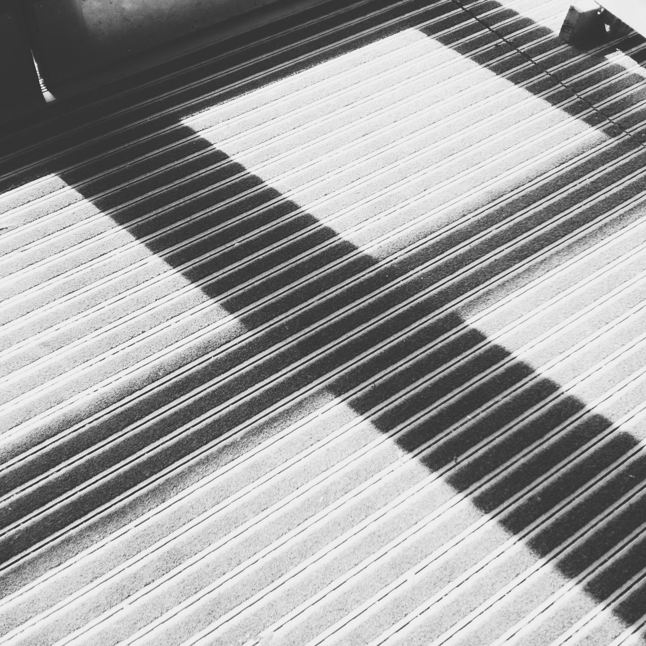 CLOSE-UP HIGH ANGLE VIEW OF BLINDS