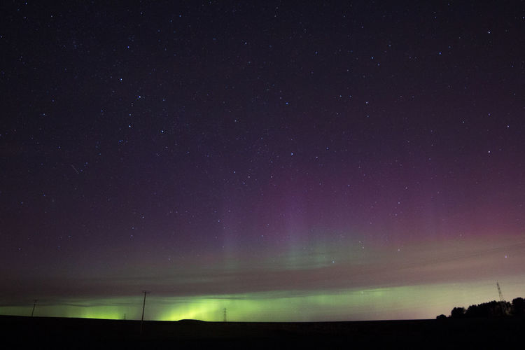 Northern lights in Scotland 01/03.2017 Amazing Astronomy Aurora Aurora Borealis Aurora Polaris Beauty In Nature Canon Constellation Galaxy Idyllic Infinity Low Angle View Nature Nature Photography Night No People Northern Lights Outdoors Scenics Sky Space Star - Space Star Field Tranquil Scene Tranquility