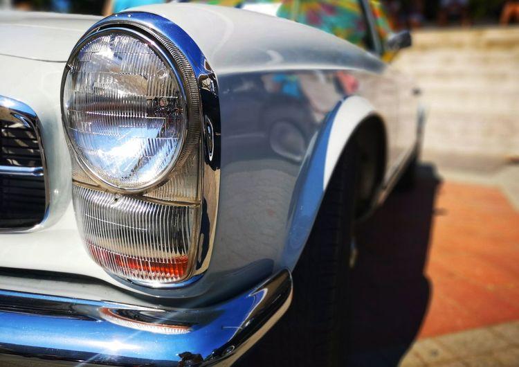 Retro Car Oldtimer Retro Styled Oldtimerautos Oldtimercar Car Headlight Reflection Close-up
