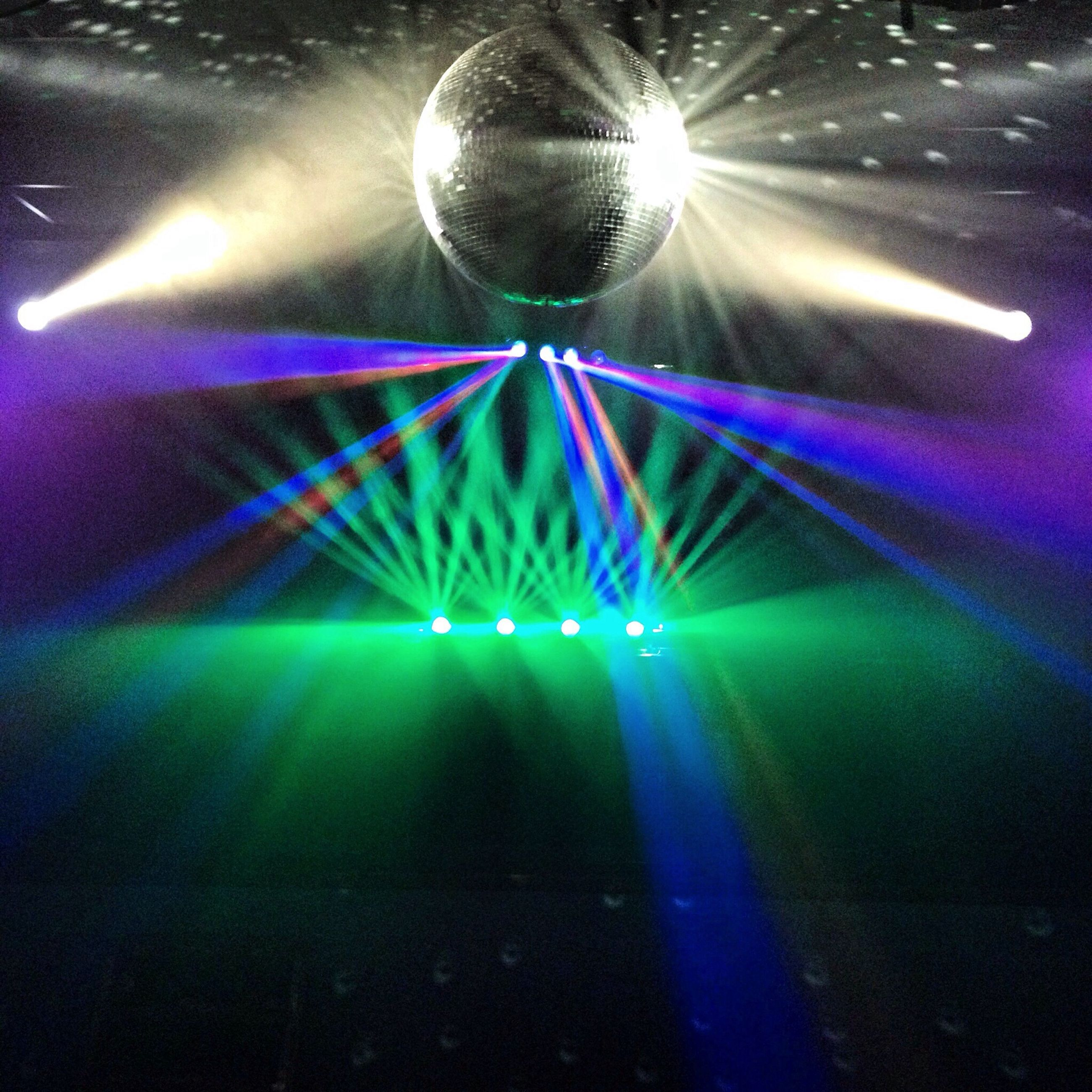illuminated, lighting equipment, night, glowing, indoors, electricity, light - natural phenomenon, electric light, low angle view, hanging, light, ceiling, light beam, decoration, multi colored, technology, celebration, no people, nightlife, christmas lights