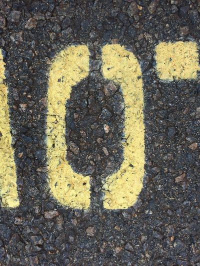 Asphalt Backgrounds Close-up Day Detail Elevated View Focus On Shadow Full Frame Ground High Angle View Letter O No People Outdoors Road Road Marking