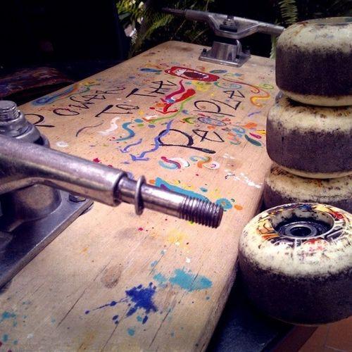 Changing Skateboard Wheels Skate Skateboarding Skateforlife Skate4life PowerToThePeople Johnlennon Today Summer