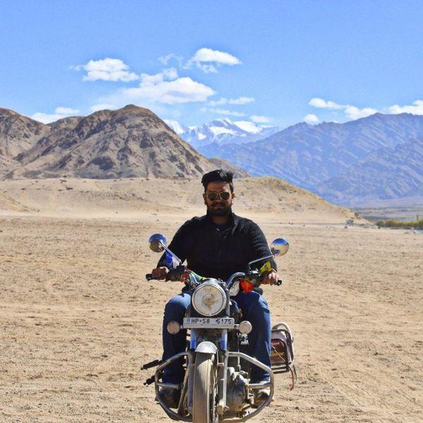 Wish you were here? Leh Ladakh Paradise Royalenfield RoadTrip MotorcycleDiaries potd Wanderlust Travel