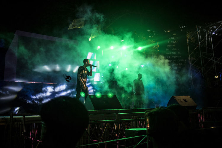 Youk Shi Night Hip Hop Life Stage Show Myanmar Yangon Night Life Canon Eos M2