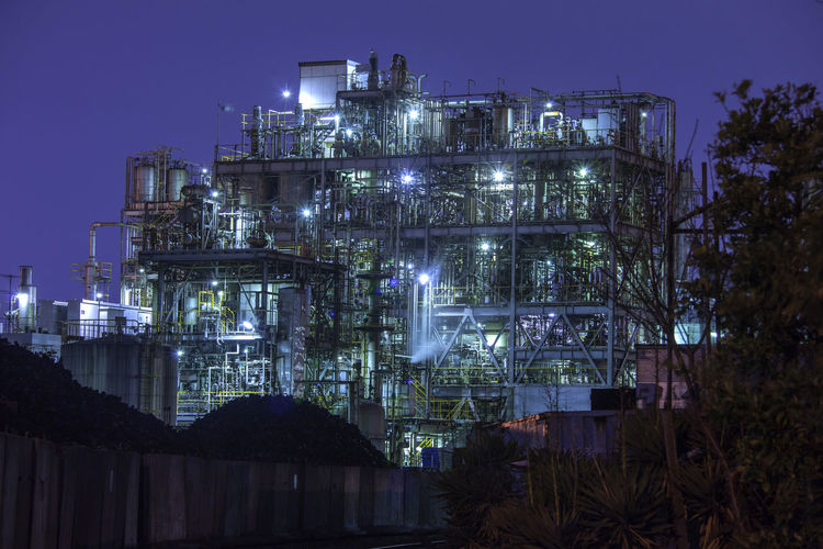 factory in japan Architecture Building Building Exterior Built Structure Chemical Plant City Dusk Factory Fuel And Power Generation Illuminated Industrial Building  Industry Light Lighting Equipment Low Angle View Nature Night No People Outdoors Plant Sky Tree
