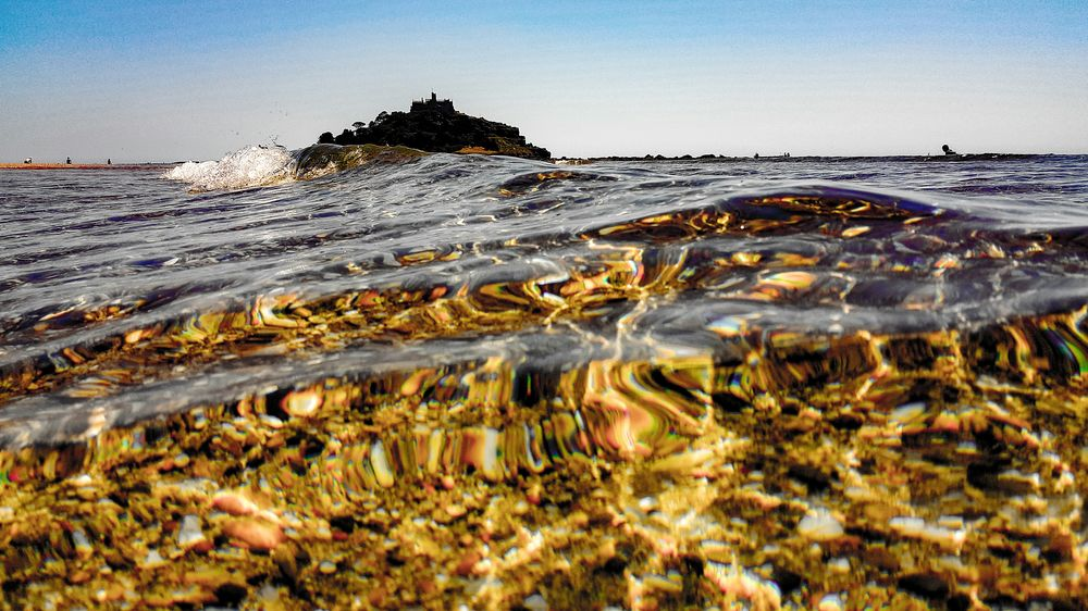 St Michaels Mount Beauty In Nature Water Nature Clear Sky No People Outdoors Sky Scenics Sea And Sky Seaside Seascape Seascape Photography Seascapes Seashore Sea View Pebbles And Water Pebbles And Sand Waves Breaking On A Shore Waves In The Sand Waves, Ocean, Nature Day Ocean Waves Ocean And Sky Oceanview