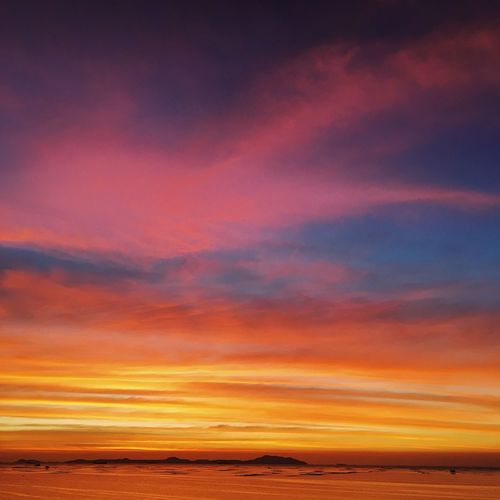 Rainbow sunset by the sea. Sunset Sky Scenics - Nature Beauty In Nature Cloud - Sky Orange Color Tranquility Tranquil Scene Sea Water No People Nature Dramatic Sky Horizon Non-urban Scene Romantic Sky Horizon Over Water Thailand Outdoors