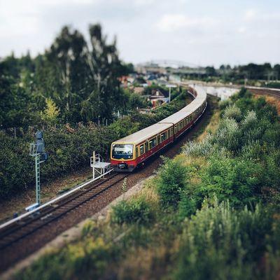 Sbahn Public Transportation Tiltshift Train