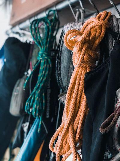 Close-Up Of Climbing Ropes