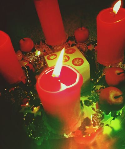 Xmas Xmas Decorations XmasIsComing Candle Flame Burning Indoors  Heat - Temperature No People Table Diya - Oil Lamp Celebration Day Red Close-up
