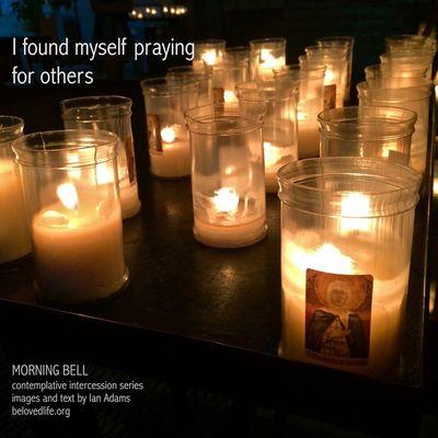 No1 in series 'in our prayers (contemplative intercession)' Stillness Prayer Contemplation Cortona Shrine Candles