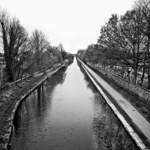Blackandwhite Landscape Canal Calm Manchester United Kingdom