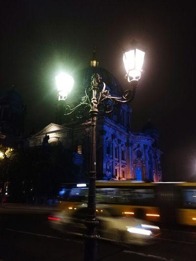 Discover Berlin Night Illuminated Street Light Architecture Outdoors City Berlin Berlin Mitte Building Exterior