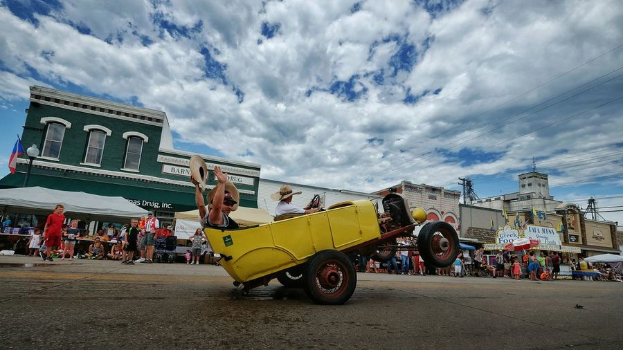 Czech Festival Parade Autoportrait Wheelie Main Street USA