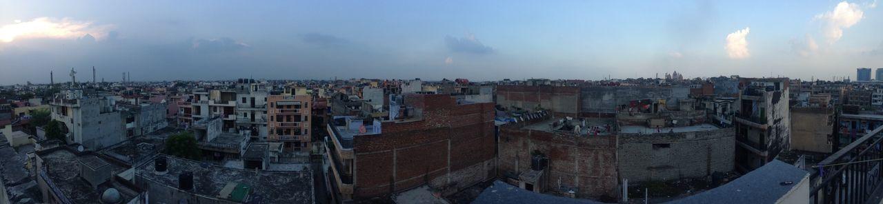 Panoramic New Delhi,india Busy City
