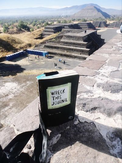 Mexico Teotihuacan Wreckthisjournal Text Day Outdoors No People Sunlight Nature Architecture