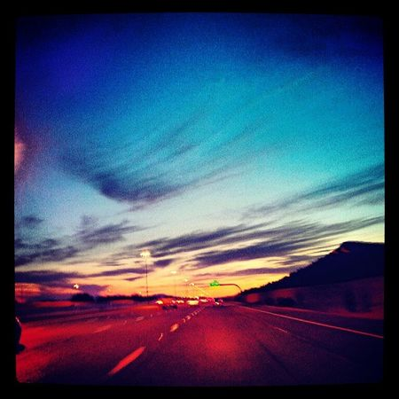 Instagramaz Glendaleaz Phoenixaz Driving 101westbound Freeway Desertlivin Mountainside Silhouette Sunsets Cargofast Vroom Blueskies @arizonaskies @sunsetsgram Arizonahighways Skyporn Goingfast Igarizona Igersphx Goodevening  Arizona