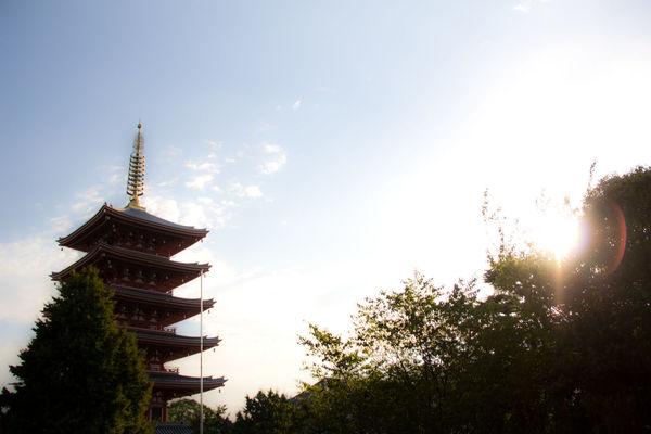 Asakusa Japanese Pagoda Japenese Temple Pagoda Sunlight Sunlight ☀