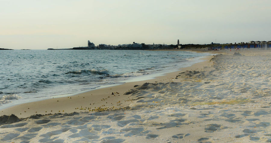 Lecce Architecture Beach Beauty In Nature Clear Sky Day Horizon Over Water Nature No People Outdoors Salento Sand Scenics Sea Shore Sky Sunset Torre San Giovanni Ugento Water Wave