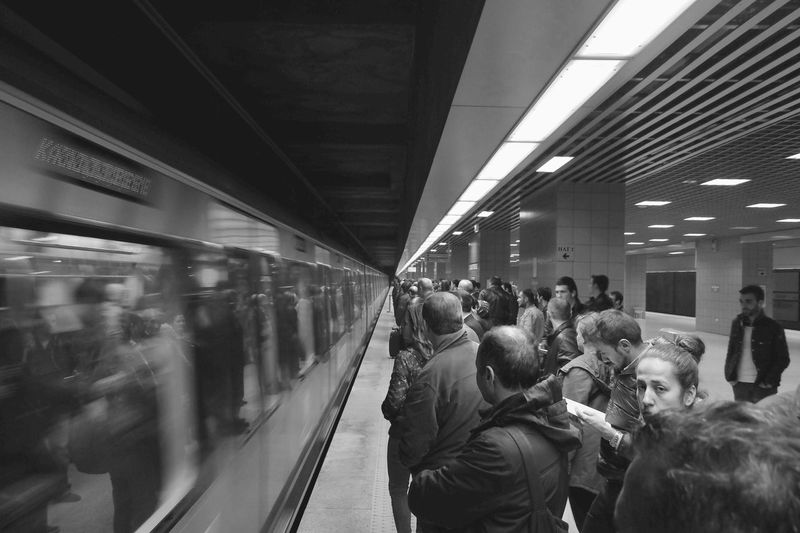 Snapshots Of Life Subway ıstanbul Turkey People Stand Out From The Crowd City Cityscape Blackandwhite