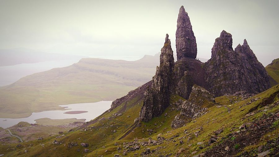 View over the old man of storr