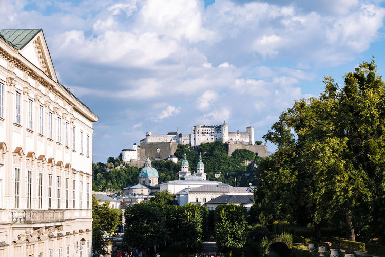 Salzburg cityscape, Austria Mirabellgarten Obersalzberg Architecture Building Building Exterior Built Structure City Cityscape Cloud - Sky Day Growth History Mirabell Palace Nature No People Outdoors Plant Residential District Salzburg Schloss Mirabell Sky Tourism Travel Travel Destinations Tree