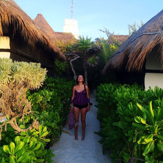 One Person Real People Front View Outdoors Plant Nature Beauty In Nature Portrait Real Life Paradise Tulum Coco Beach Hut Local Live Life Love The Traveler - 2018 EyeEm Awards