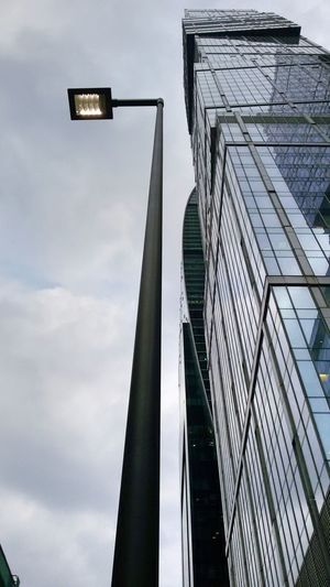 Low Angle View Sky No People Cloud - Sky Outdoors Architecture Day Building Moscow Moscow City Window Built Structure Lines And Shapes Light Grey Sky Grey